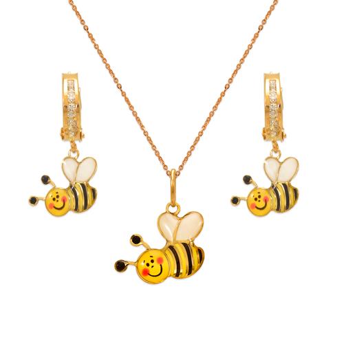 347-914S Honey Bee Enamel Set