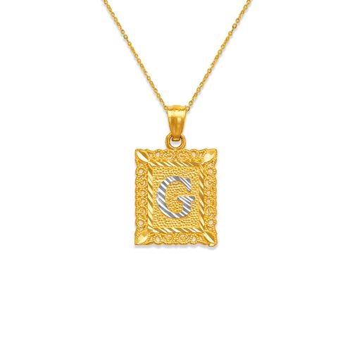 562-505 Initial Letter Framed Pendant