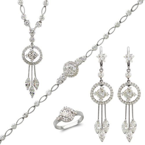 483-001WS Fancy White Collection Set