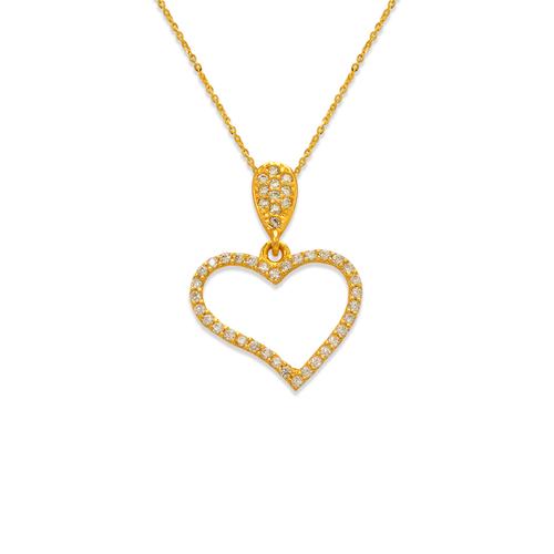 263-001 Fancy Heart CZ Pendant