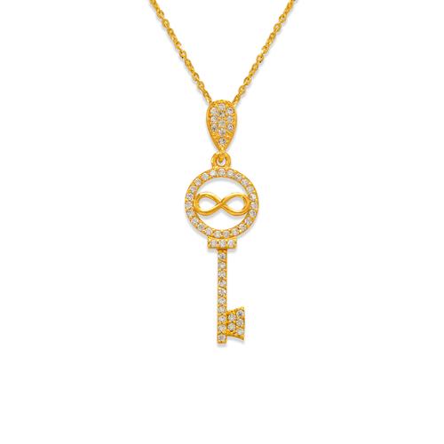 263-005 Fancy Infiniti Key CZ Pendant