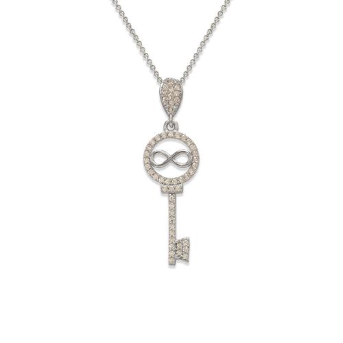 263-005W Fancy Infiniti Key CZ Pendant