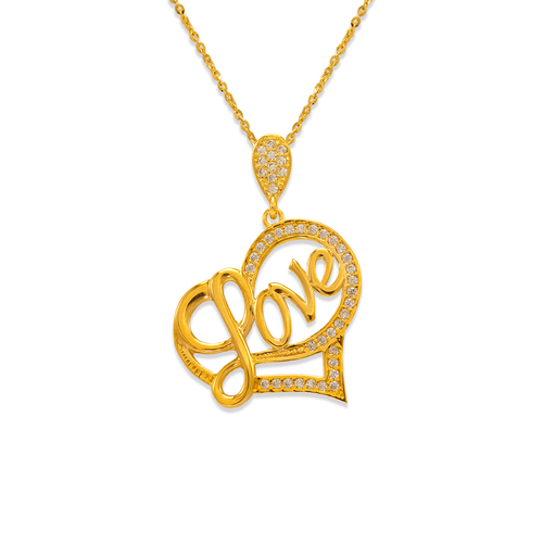 263-008 Fancy Heart CZ Pendant