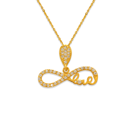 263-009 Fancy Infinite Love CZ Pendant