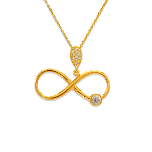 263-010 Fancy Infinity CZ Pendant