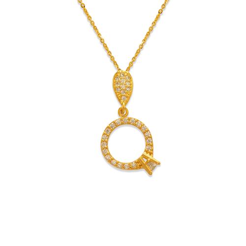 263-014 Fancy Engagement Ring CZ Pendant