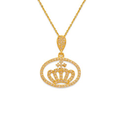 263-022 Fancy Crown CZ Pendant