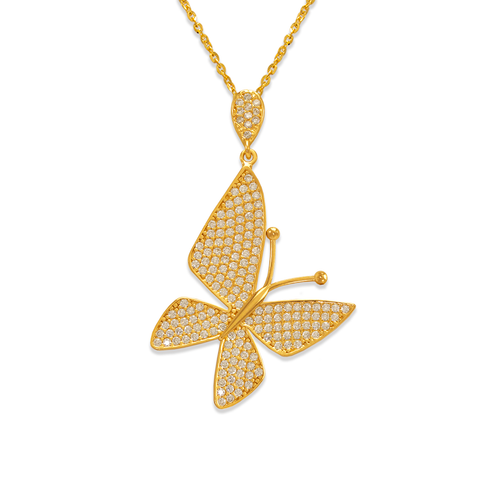 263-062 Fancy Butterfly CZ Pendant