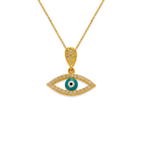 263-081 Fancy Evil Eye CZ Pendant