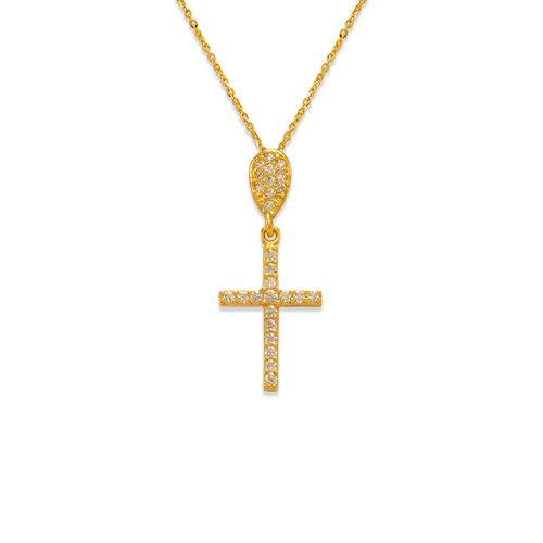 263-101 Fancy Cross CZ Pendant