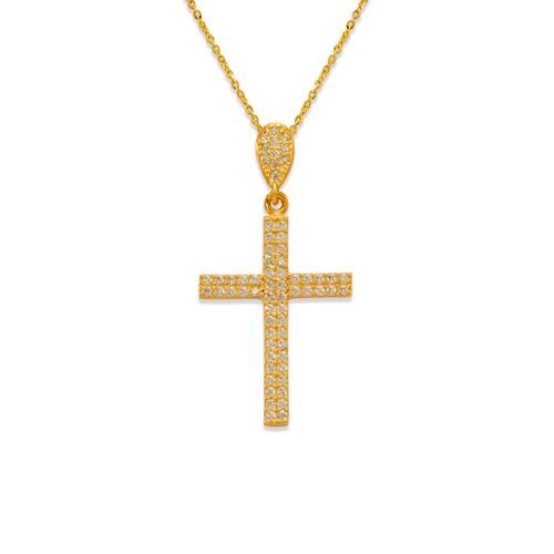 263-102 Fancy Cross CZ Pendant