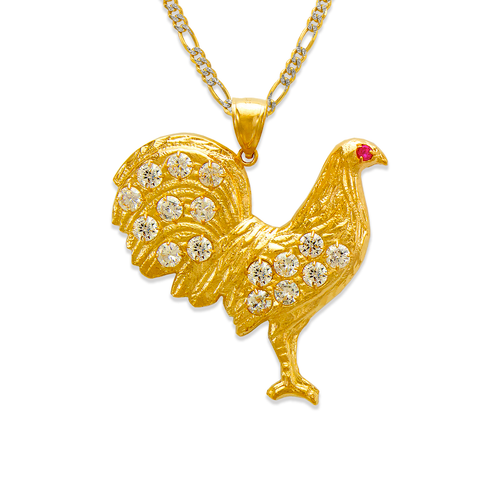 563-041 Rooster CZ Pendant