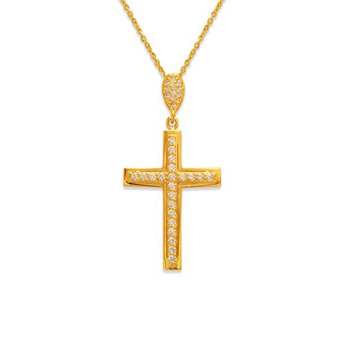 263-105 Fancy Cross CZ Pendant