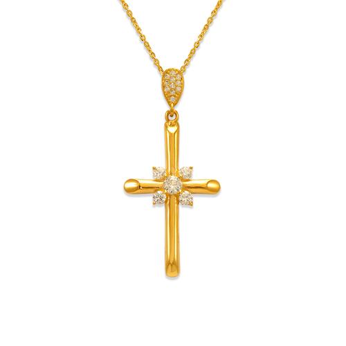 263-106 Fancy Cross CZ Pendant