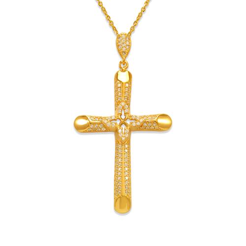 263-107 Fancy Cross CZ Pendant