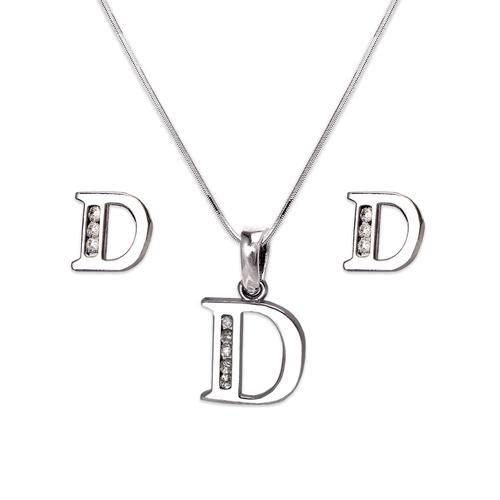 """583-101WDS Initial """"D"""" White Collection Set"""