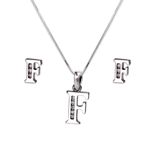 """583-101WFS Initial """"F"""" White Collection Set"""