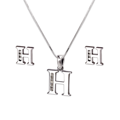 """583-101WHS Initial """"H"""" White Collection Set"""
