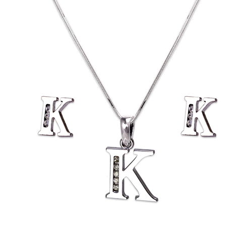 """583-101WKS Initial """"K"""" White Collection Set"""