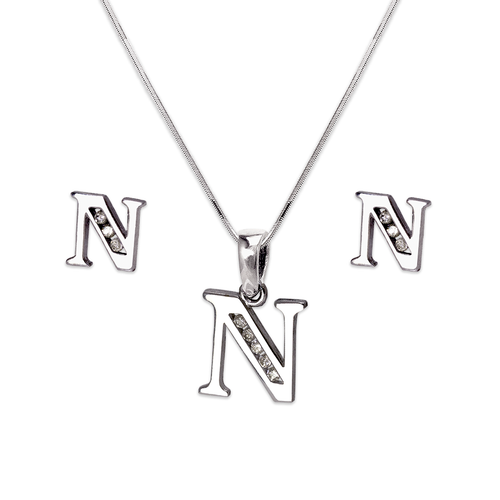 """583-101WNS Initial """"N"""" White Collection Set"""
