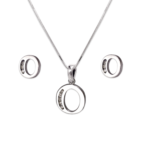 """583-101WOS Initial """"O"""" White Collection Set"""