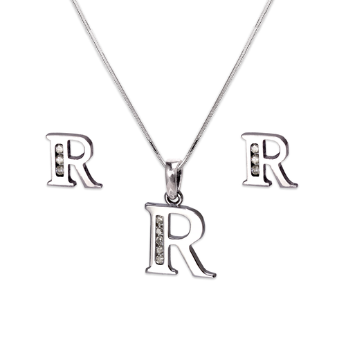 """583-101WRS Initial """"R"""" White Collection Set"""