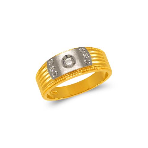 473-123 Men's Fancy Couple CZ Ring