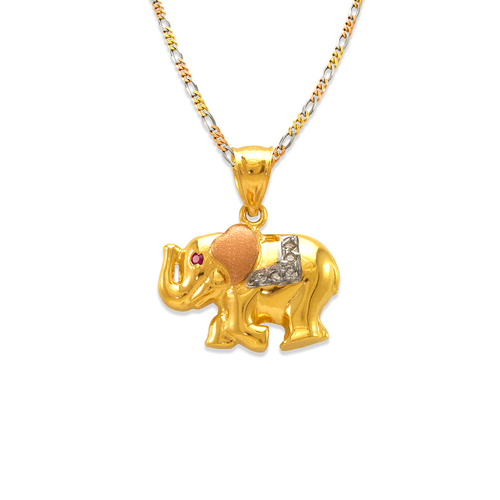 563-042 Fancy Elephant CZ Pendant