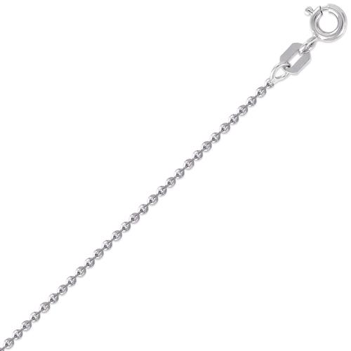 132-073WS Rolo Flat D/C White Chain