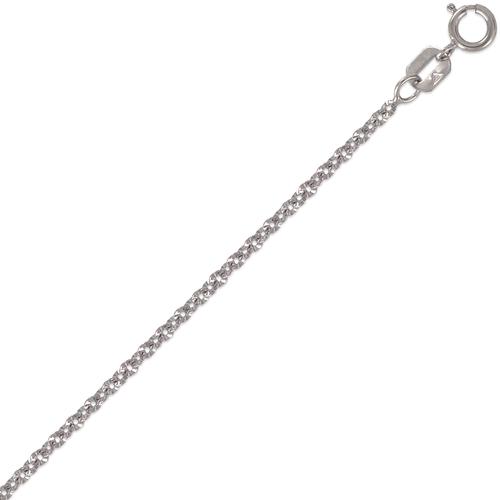132-078WS Rolo Star White Chain