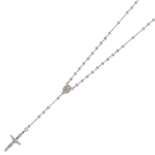 152-001W-025 Rosary White Chain