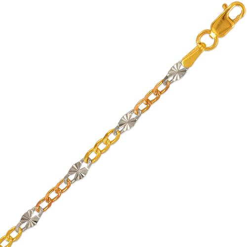 132-251TS Figaro Star Tricolor Chain