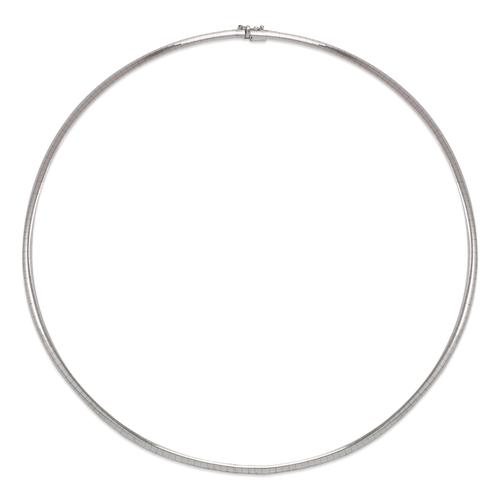 151-001W-030 3mm White Omega Chain