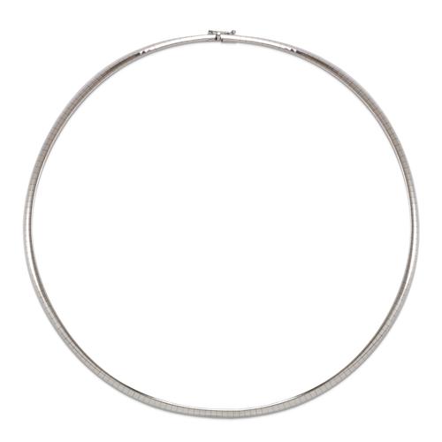 151-001W-040 4mm White Omega Chain