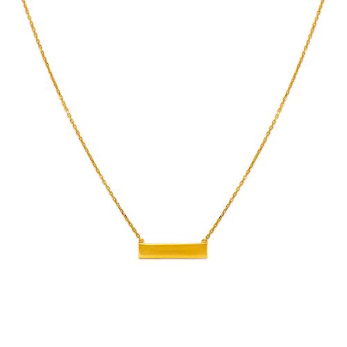 253-012 Fancy Plain Bar Necklace