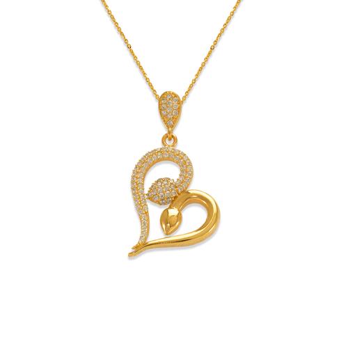 263-016 Fancy Heart CZ Pendant