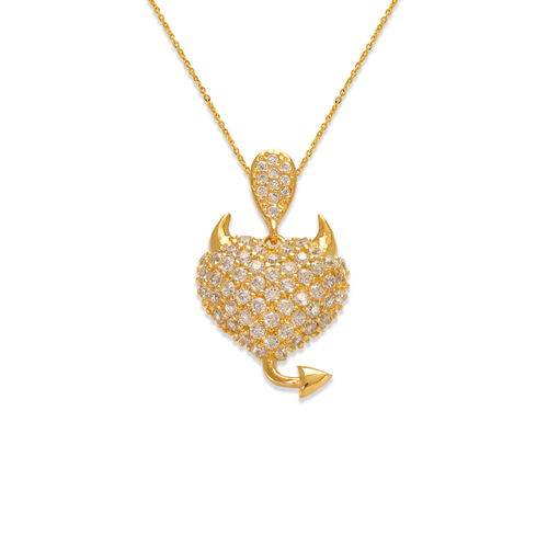 263-017 Fancy Devilish Heart CZ Pendant