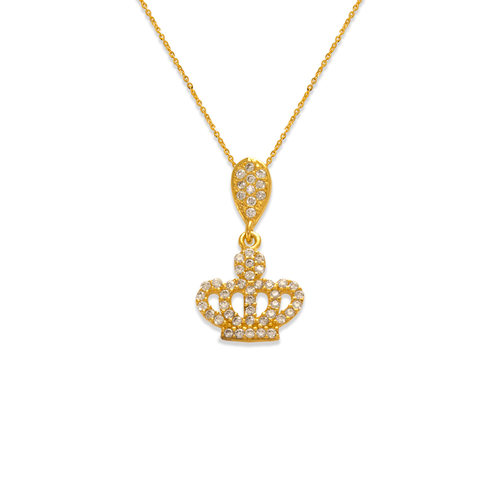 263-024 Fancy Crown CZ Pendant