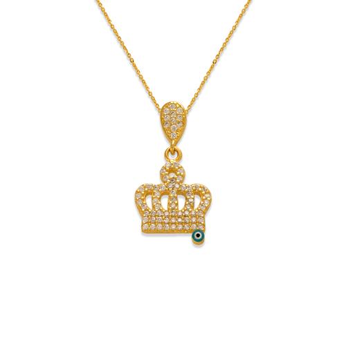 263-025 Fancy Crown with Eye CZ Pendant