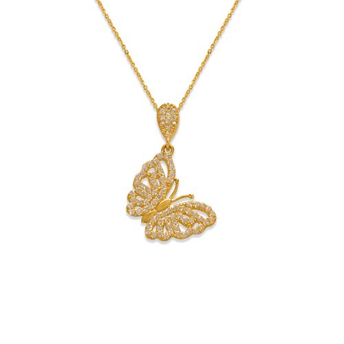 263-064 Fancy Butterfly CZ Pendant