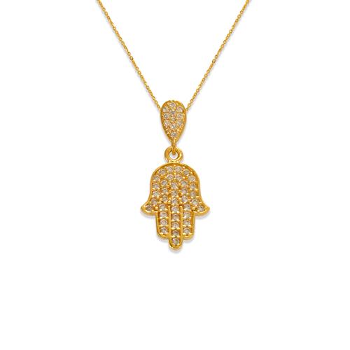 263-151 Fancy Hand of Fatima CZ Pendant