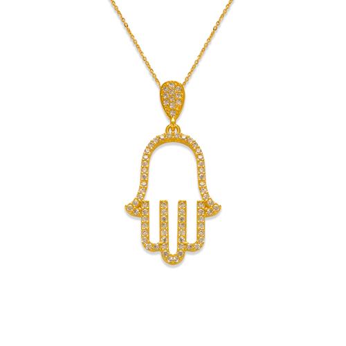 263-152 Fancy Hand of Fatima CZ Pendant