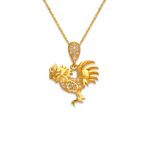 263-203 Fancy Rooster CZ Pendant