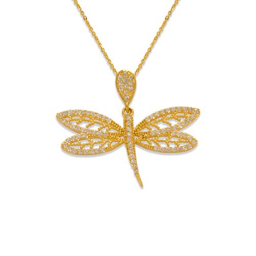 263-205 Fancy Dragonfly CZ Pendant