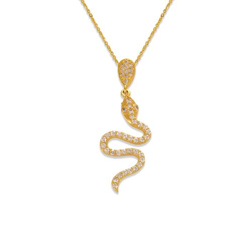 263-206 Fancy Snake CZ Pendant