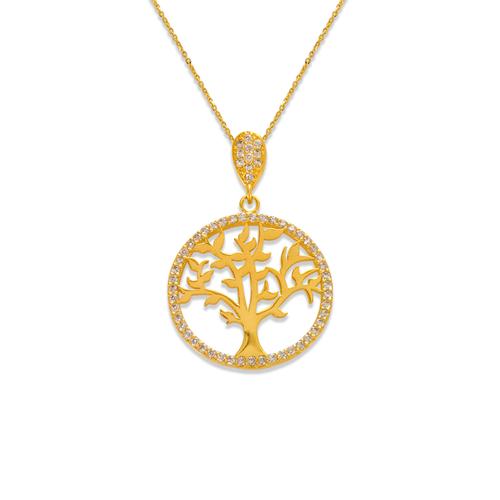 263-210 Fancy Tree of Life CZ Pendant