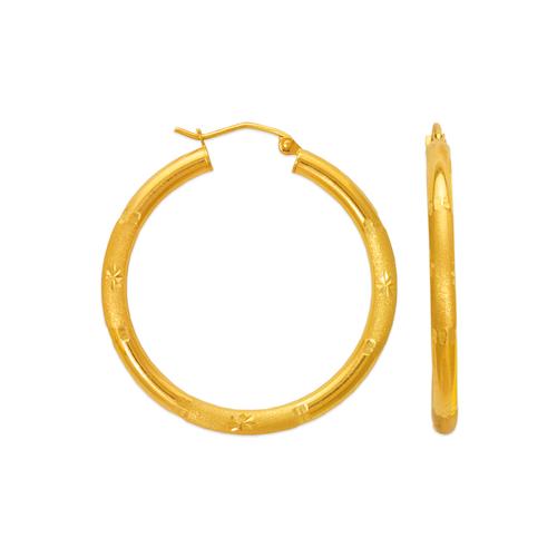 546-901S 3mm Round Tube Hoop Earrings
