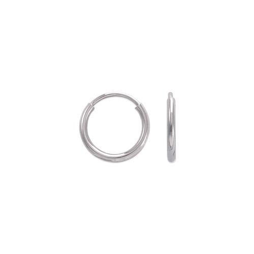 546-101WS 1.2mm Round Tube Hoop Earrings