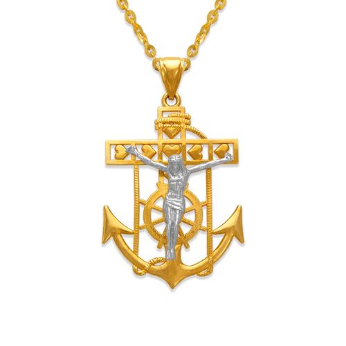 568-069B Jesus Anchor Pendant
