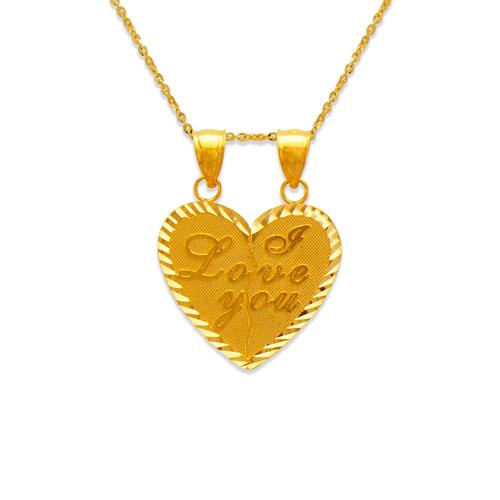 568-262 I Love You Heart Pendant